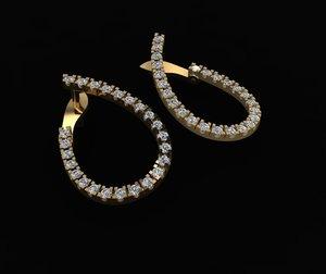 3D silver earings model