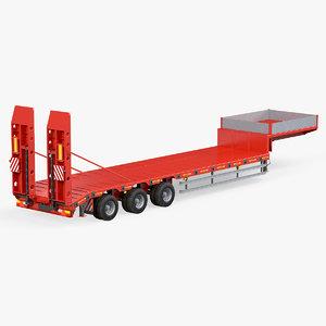 loader semi-trailer waltrak 3D model