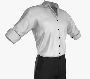 casual suit style 1 3D model