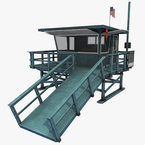 lifeguard station 3d max
