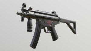 3D heckler koch mp5 guns model