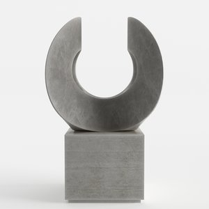 modern decorative abstract stone model
