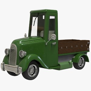 3D cartoon truck pickup v2