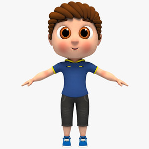 boy rigged character 3D model