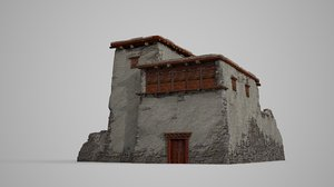 ancient stone dwelling 3D model