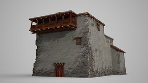 3D ancient stone northern model