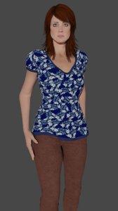 3D model woman agatha ready games