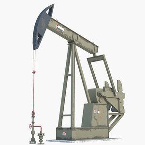 pump jack oil 3D