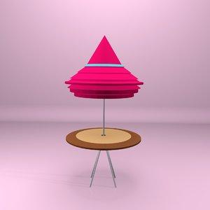 3D model hasmadspg beach table