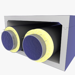 3D tunnel pipe heating model