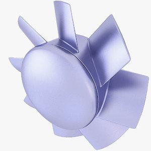3D fan cooling model
