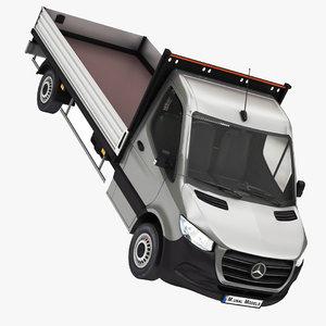 3D mercedes sprinter pickup 2