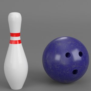 bowling ball pin 3D