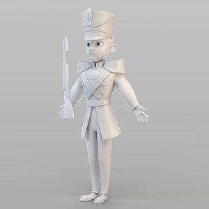 tin soldier 3D model