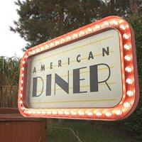 Retro sign AMERICAN DINER