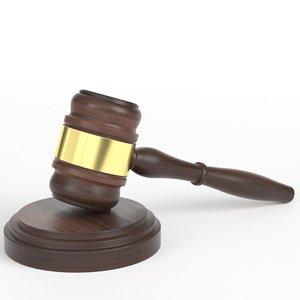 gavel law hammer 3D