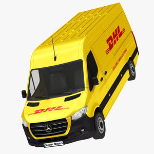 mercedes sprinter dhl panel 3D