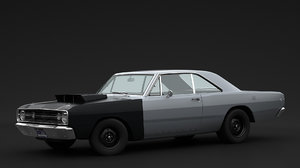 3D dodge dart hemi model