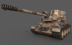 t-34-122 egyptian 3D model
