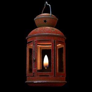 christmas lantern 3D