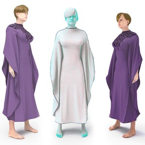 3D character female arabic clothing