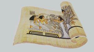 3D model egyptian papyrus
