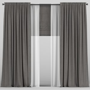 tulle curtains model