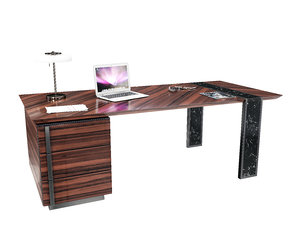 capital l writing desk 3D model
