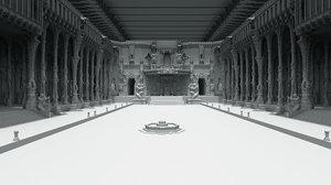fort interior 3D model