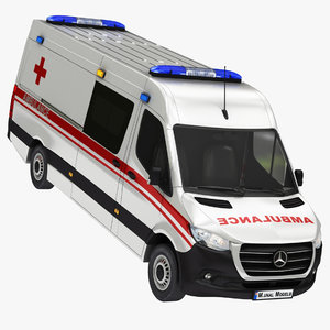 mercedes sprinter ambulance panelvan 3D model