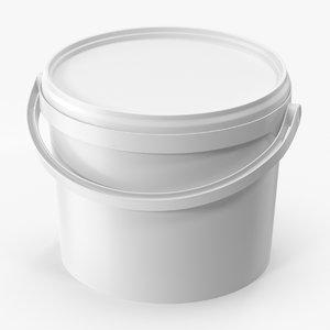 3D plastic bucket 3