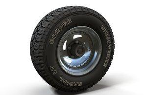 highpoly offroad wheel rim model