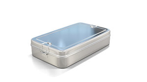 stainless steel tiffin box 3D