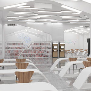 book store 3D model