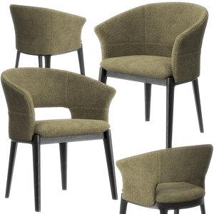 devon armchairs molteni chair 3D