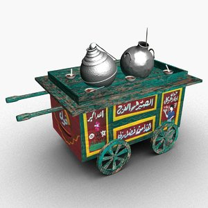 3D model broad beans cart