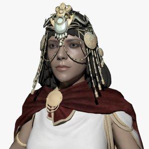 cleopatra woman female 3D model
