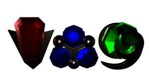 3D spiritual stones