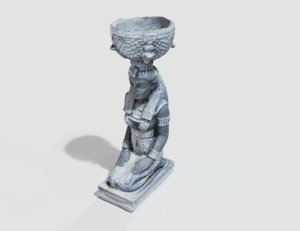 scanned old statue model
