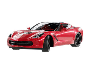 chevrolet corvette rigged 3D model