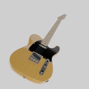 3D telecaster guitar model