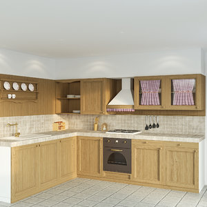 3D mountain kitchen calasella model
