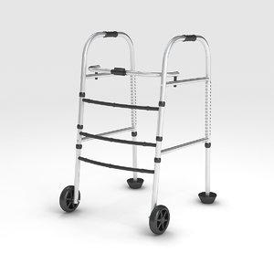 wheeled walker 3D model