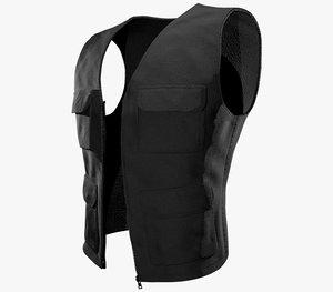 3D black vest model