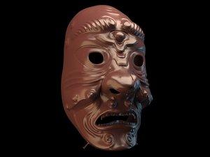 3D mask fear japan model