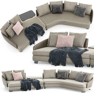 minotti lawson sofa 3D model