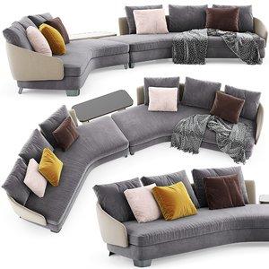 3D minotti lawson sofa