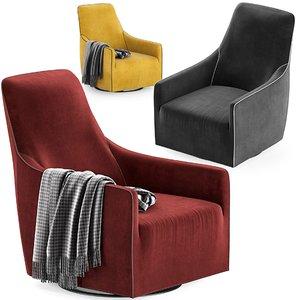 minotti portofino armchair model