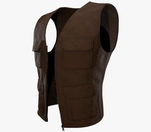 brown vest model