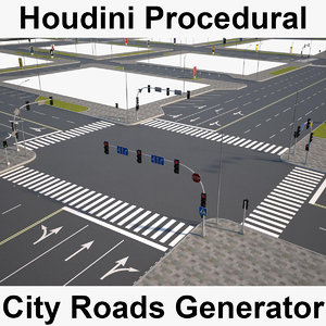 houdini city roads generator 3D